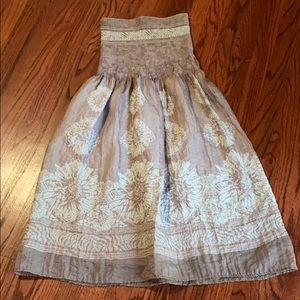 Lapis strapless dress